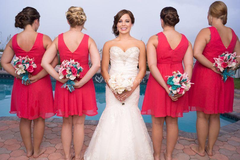 Fotografia noiva e damas
