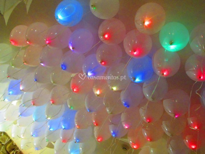 Largada de balões com led's rg