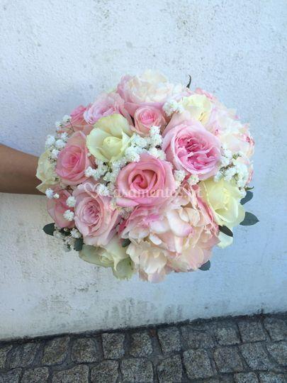 Ramo noiva rosa seco