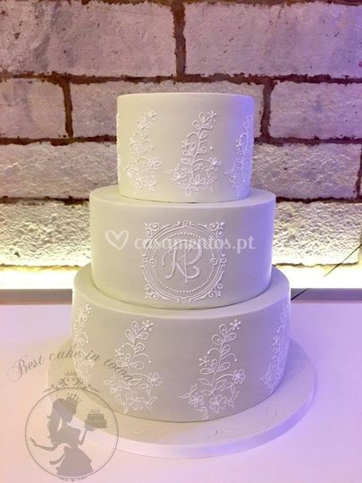 Wedding cake embroidery