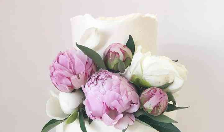 Bolo de casamento (peonias)