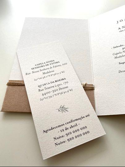 Detalhe Convite Natural