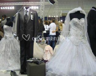 O traje da noiva e do noivo