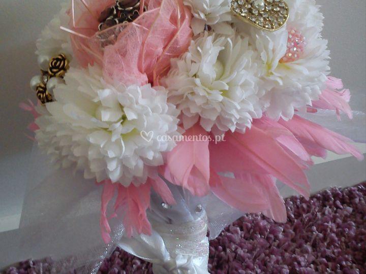 Bouquets branco e rosa