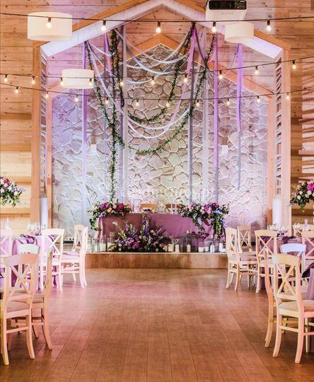 Decoração da boda