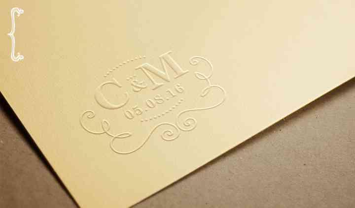 Logotipo C&M em cunho