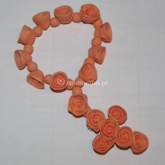 Mini-terço de rosas