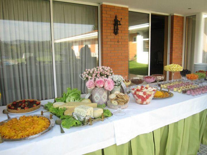 mesa casamento colorida