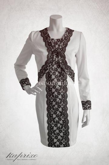 Vestido+Casaco rendados