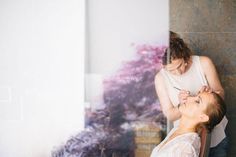 Bride preparation...