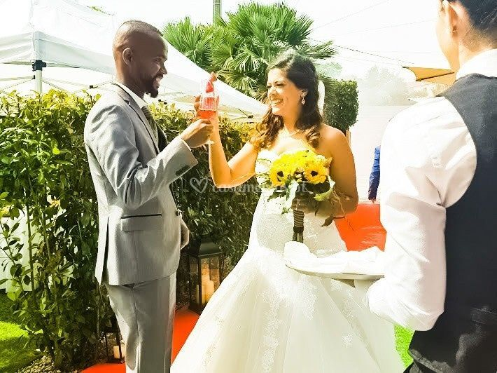 Recepção aos noivos