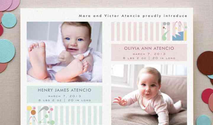 Anúncio de nascimento querido