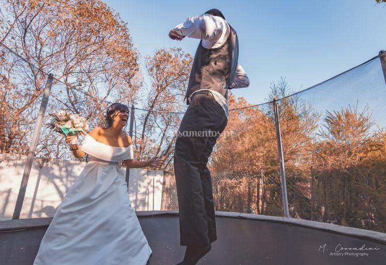 Ensaio no trampolim