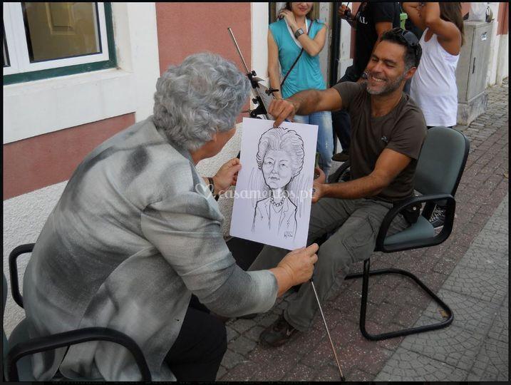 Caricatura ao vivo