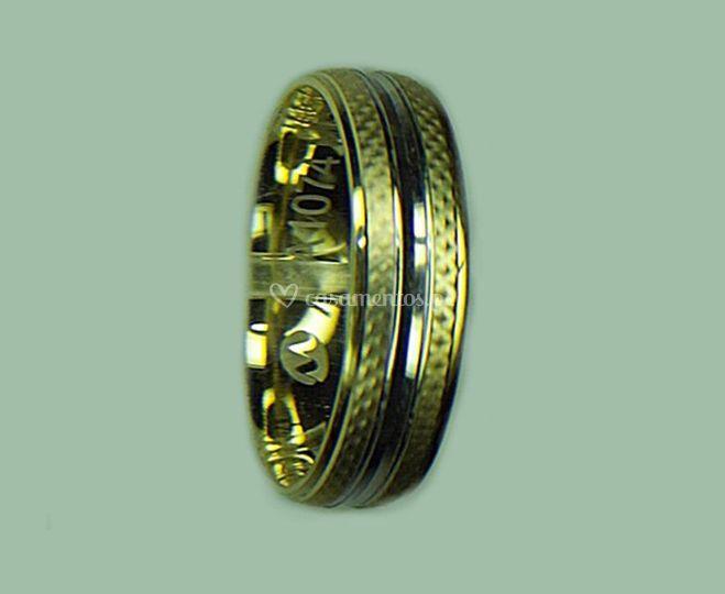 Aliança ma1074 ouro 19k-14k-9k