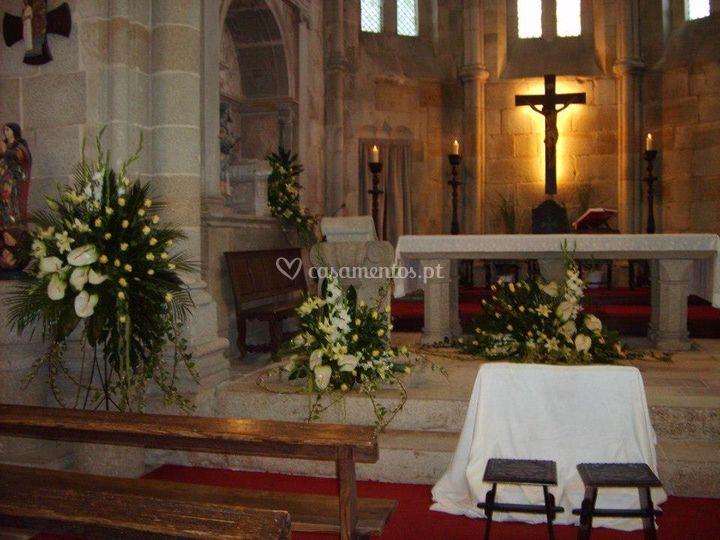 Vista geral do altar