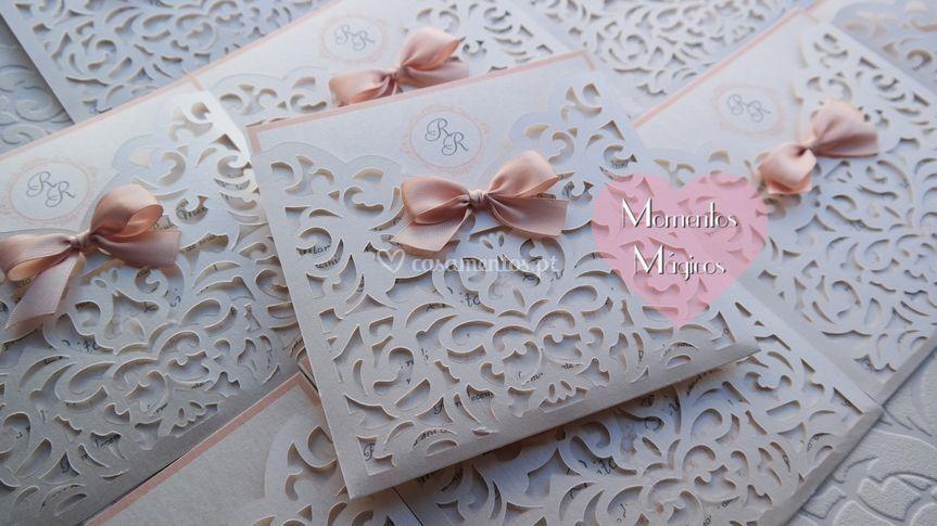 Convite laser envelope classic