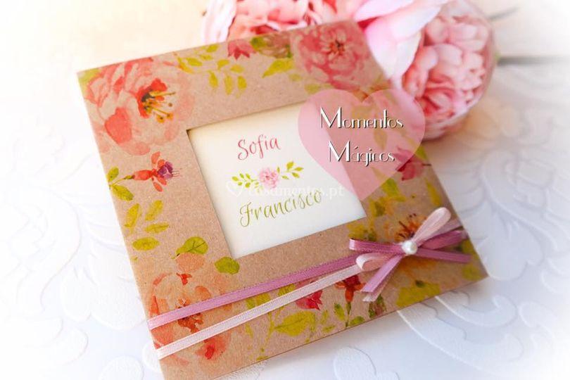 Convite vintage flower