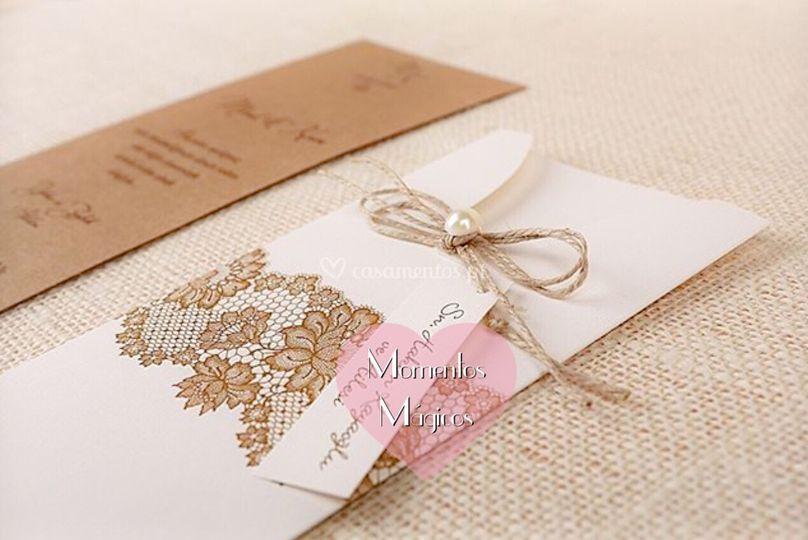 Convite casamento rustici