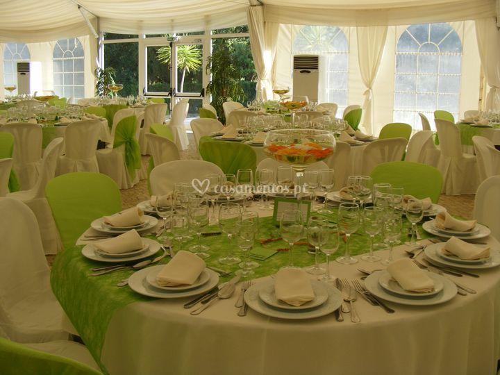 Sala decoração verde