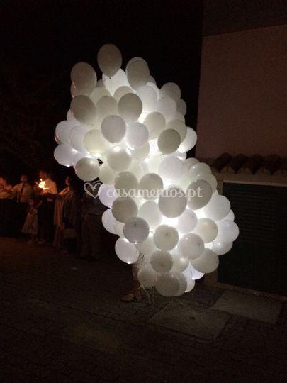 Balões com led