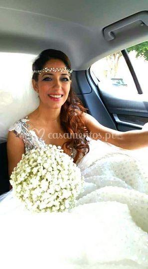 Bouquet de noiva com vivaz