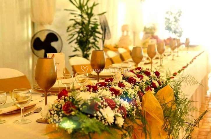 Centro mesa dos noivos