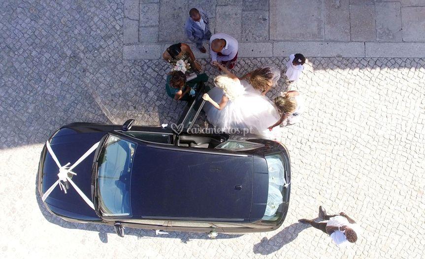 Entrada igreja by drone