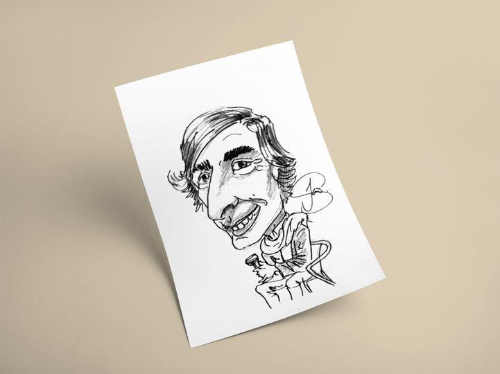 Exemplo de caricatura ao vivo
