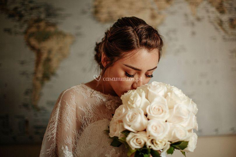 . Bridal bohemian hair.