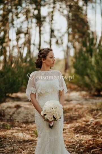 Bridal bohemian hair.