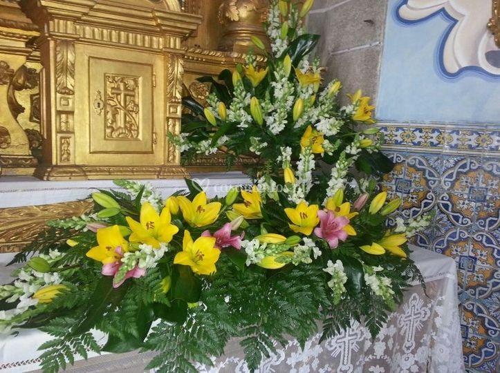 Decoraçao altar de igreja