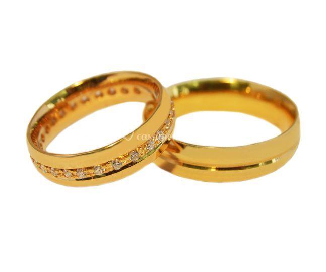 Aliança Ouro Amarelo17