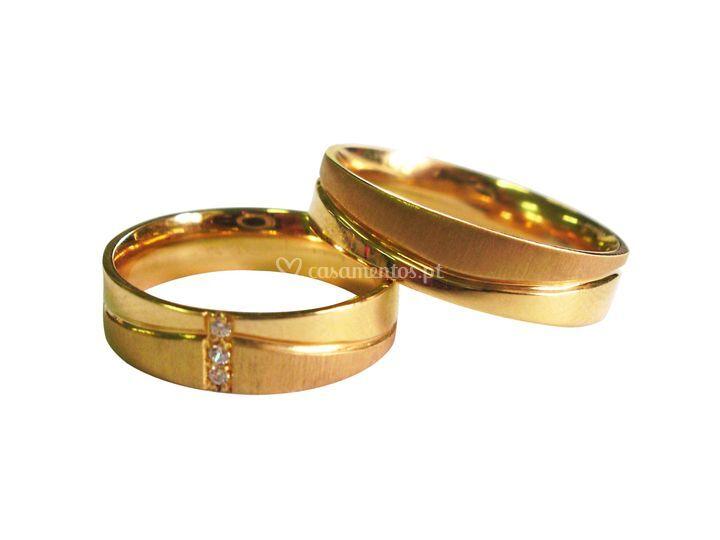Aliança Ouro Amarelo 90
