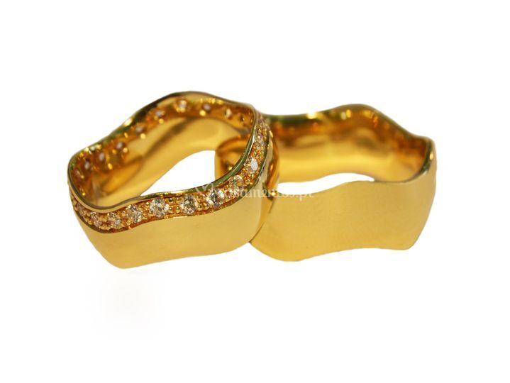 Aliança Ouro Amarelo 76
