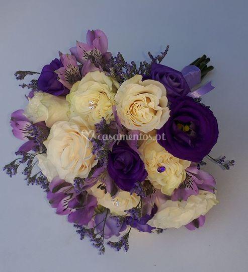 Bouquet tons lilas e perola