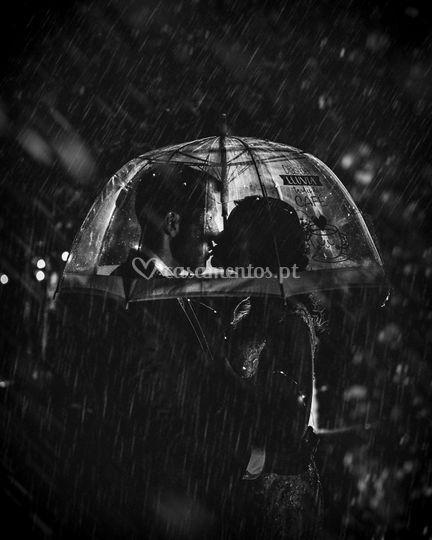 B&w with rain