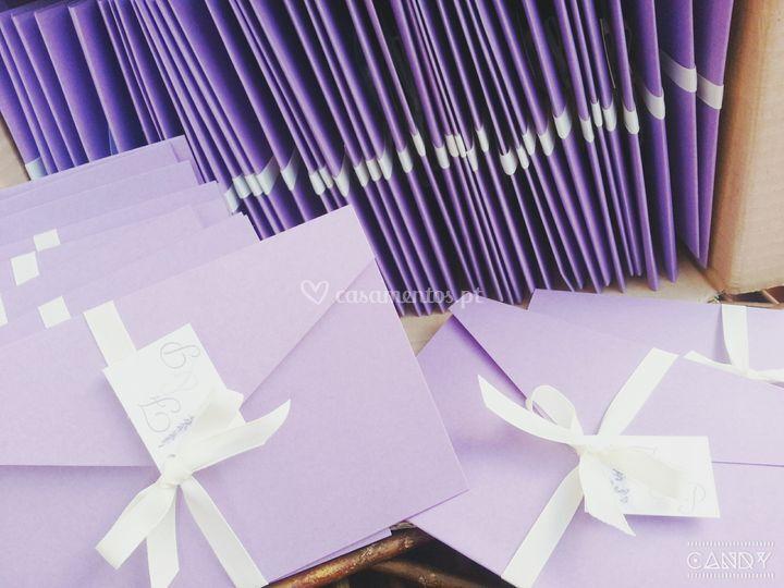 Convite Casamento - Lavanda