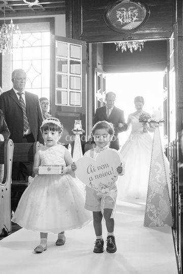 Plaquinha entrada da noiva