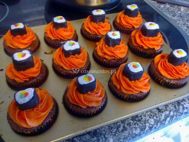 Cupcakes com chocolate