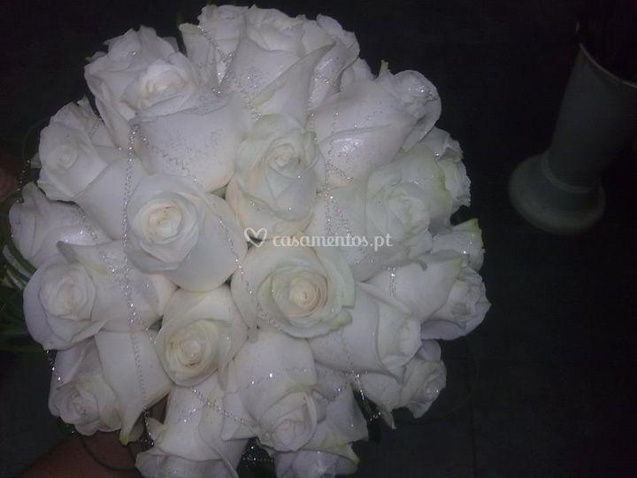 Ramo de noiva rosas