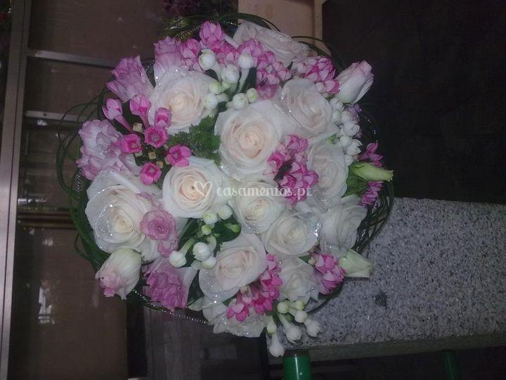 Flores em tons de rosa