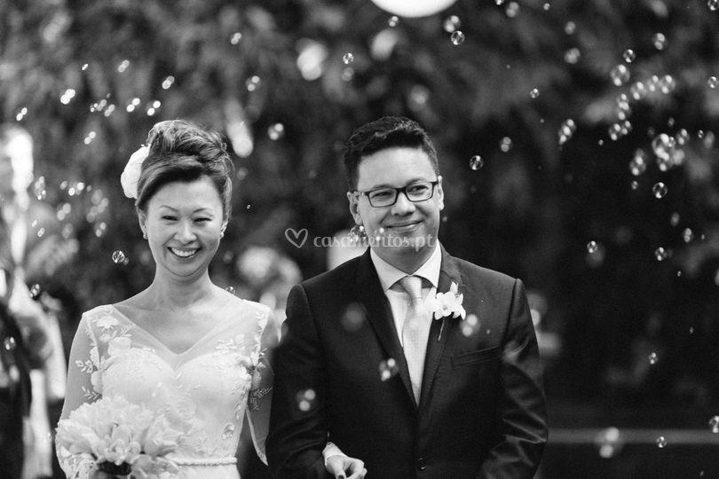 Felicidades ao casal.