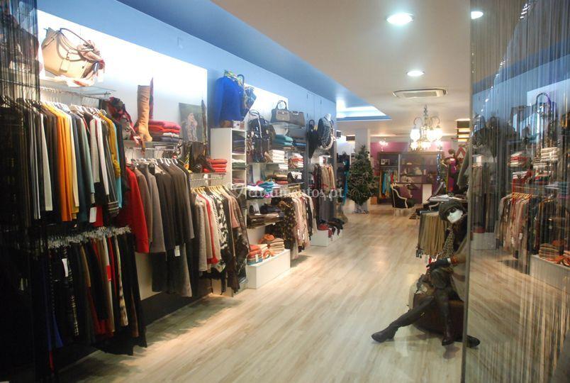 Vista parcial da loja