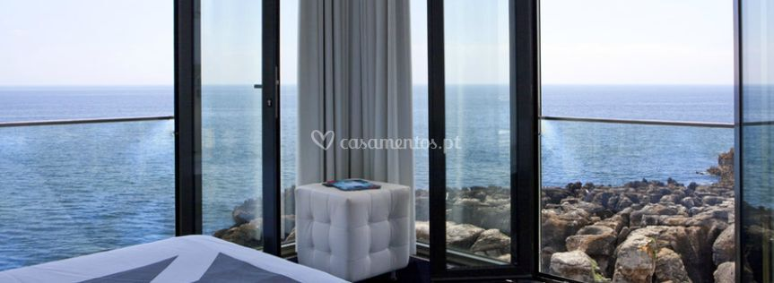 Vista panorâmica sobre o mar
