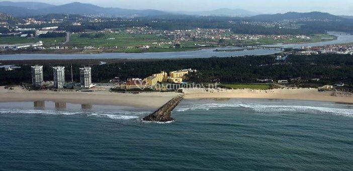 Vista aérea da praia