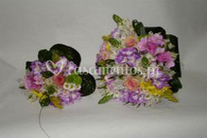 Ramo noiva de violetas