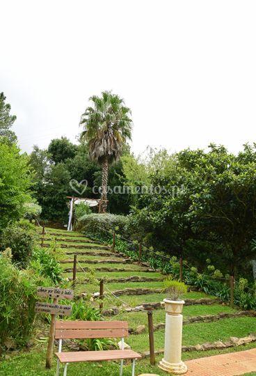 Escadaria no Jardim