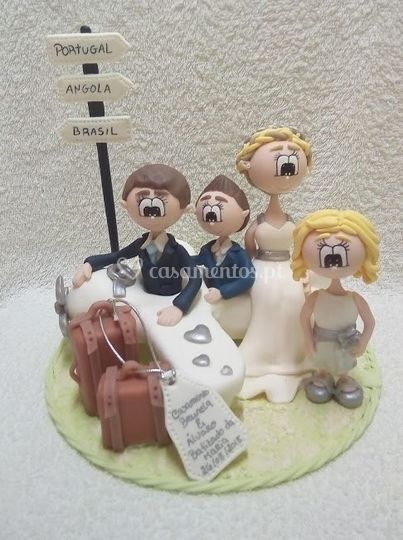 Topos de bolo em biscuit
