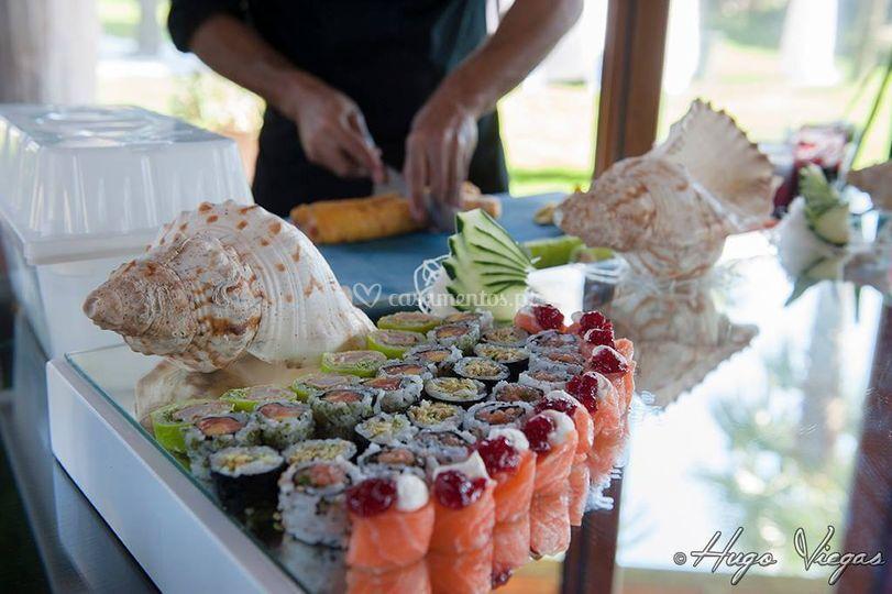 Servíço de sushi